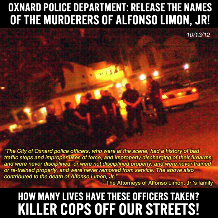 Oxnard Police Department: Release the names of Alfonso Limon's killers!