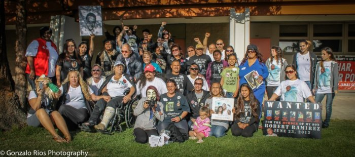 United in Struggle: Many of the family victims of police terrorism had met each other for the first time at the Oxnard conference