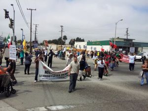 The 805 Weekend of Resistance concluded with families participating in a rally and unity march through Oxnard the following day, Sunday, April 28, 2013.