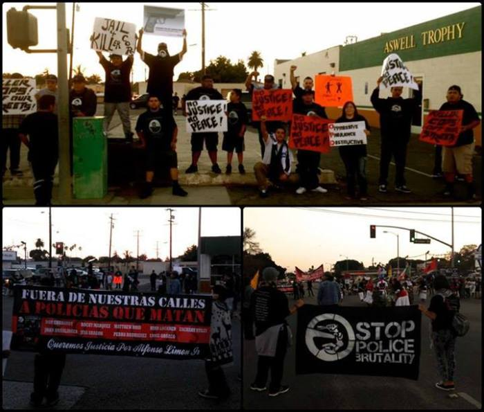 Shutting down the Cooper/Oxnard intersection, 10/13/13