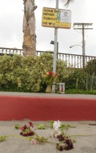 PHOTO BY ROB VARELA, VENTURA COUNTY STAR ROB VARELA/THE STAR The street bears wilted flowers near a memorial for Alfonso Limon Jr., who was shot and killed by police who mistook him for a suspect last year in Oxnard's La Colonia neighborhood.