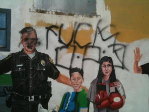 """My neighborhood does not like the police."" (courtesy Luis H. Moreno, Ph. D http://luishmoreno.com/)"