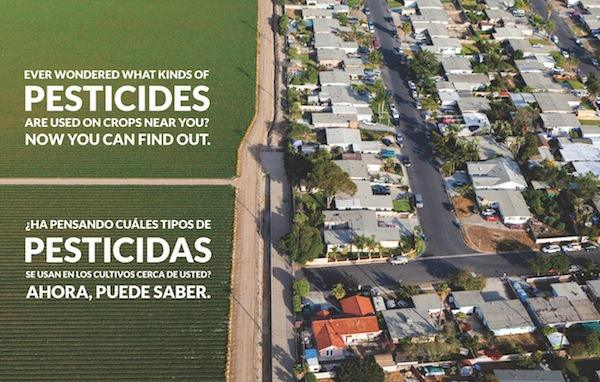 """RESIDENTS OF OXNARD, EL RIO, SANTA PAULA, FILLMORE: To receive information about the kinds of pesticides used near you, send a text with the word """"pesticide"""" to 877-877."""