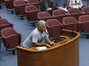 Juan Delgado addresses the planning commission. (City of Oxnard)
